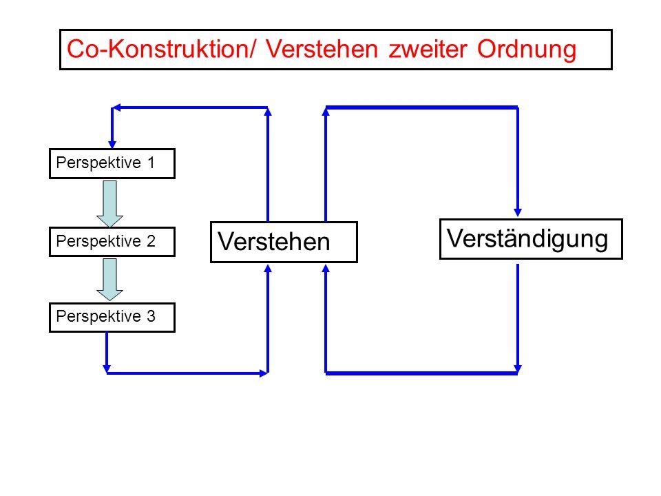 Co-Konstruktion/ Verstehen zweiter Ordnung