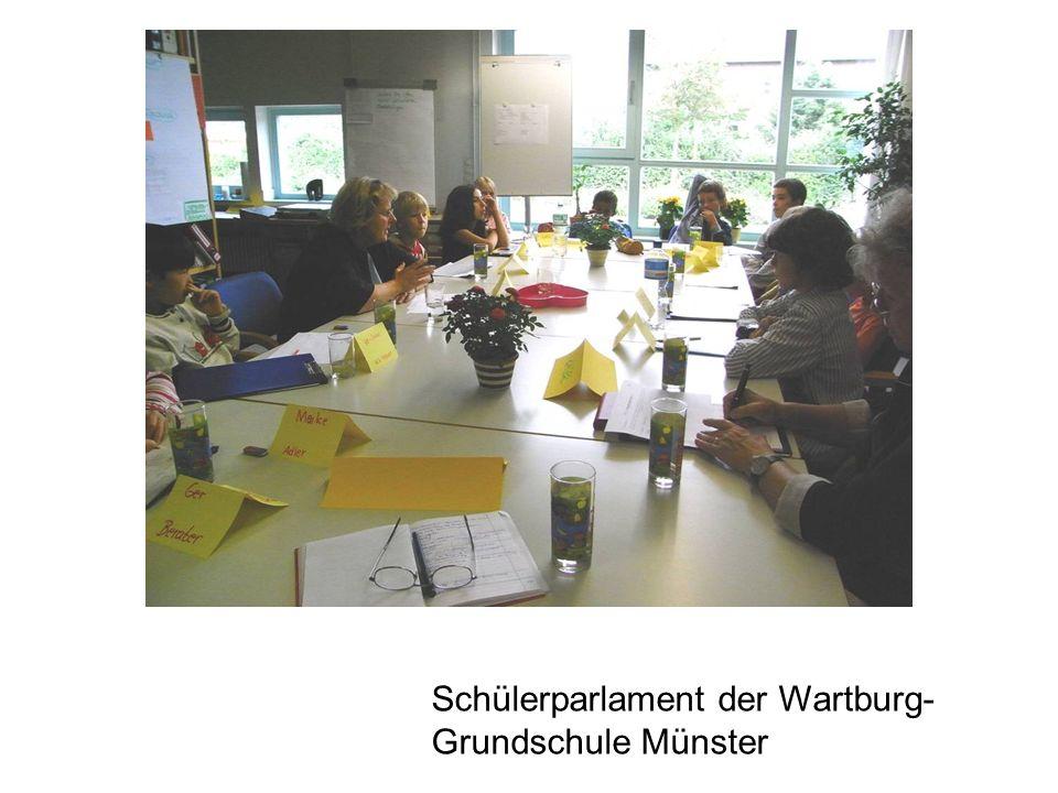 Schülerparlament der Wartburg-Grundschule Münster
