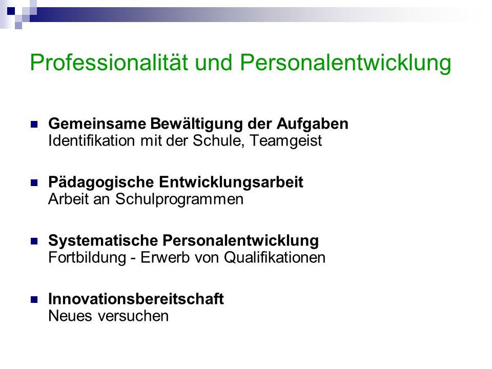 Professionalität und Personalentwicklung