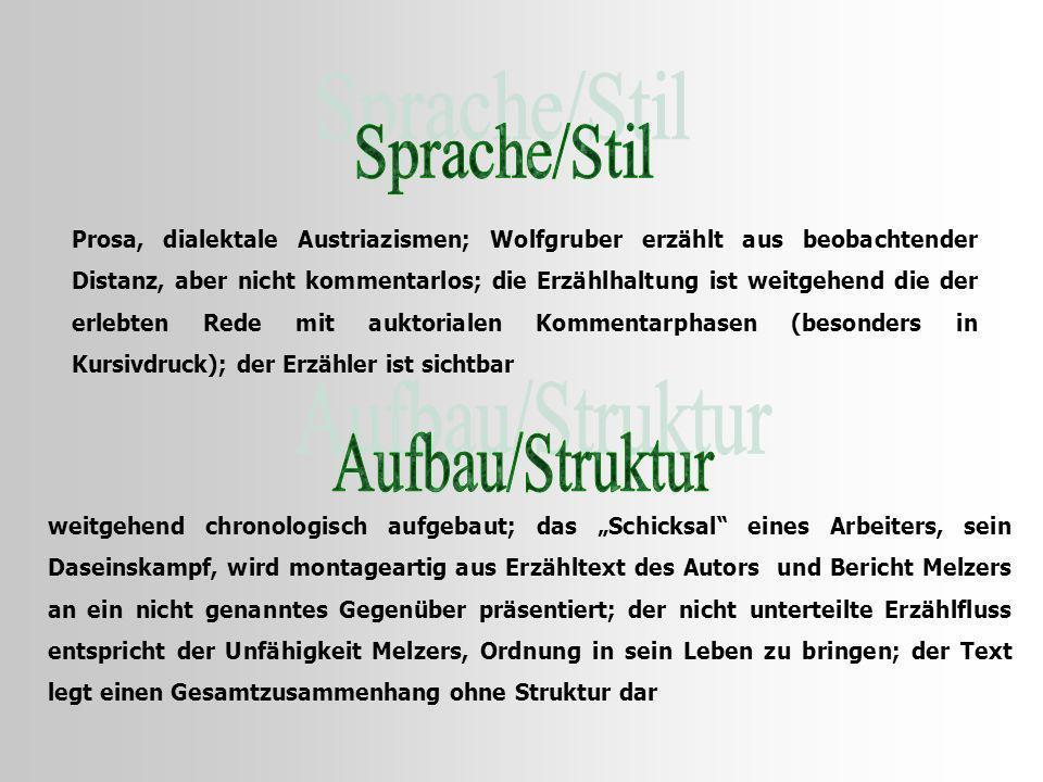 Sprache/Stil Aufbau/Struktur