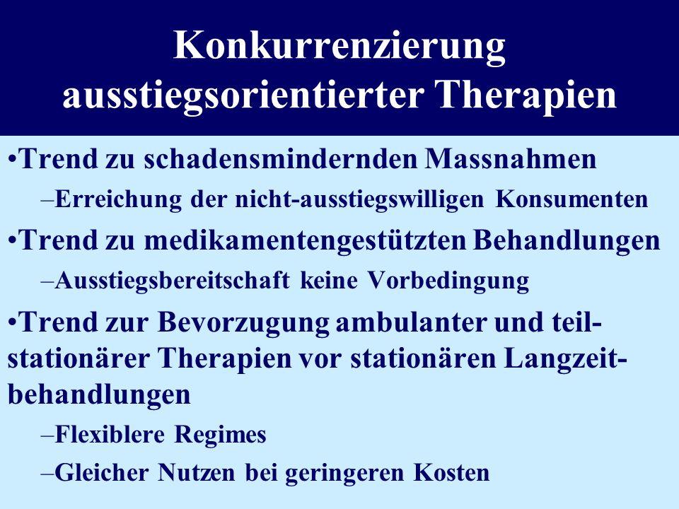 Konkurrenzierung ausstiegsorientierter Therapien