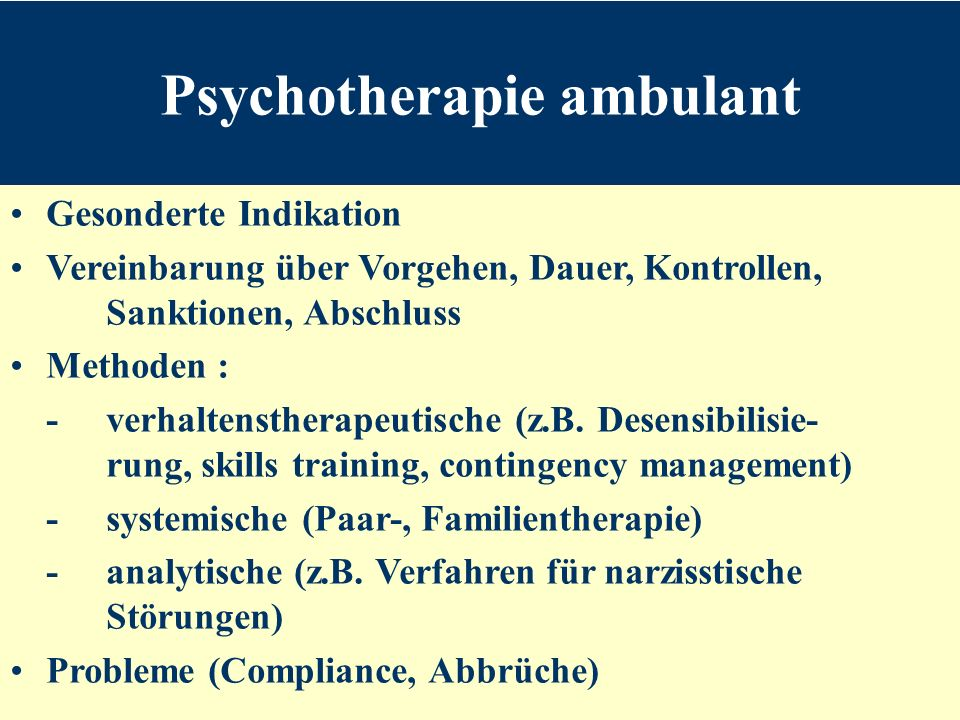 Psychotherapie ambulant