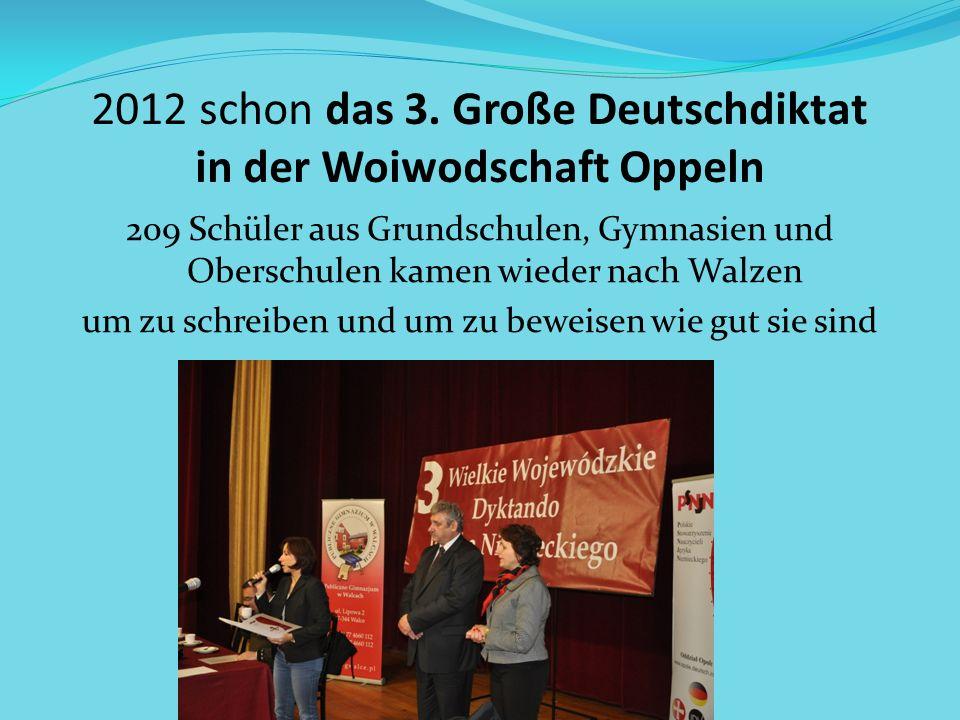 2012 schon das 3. Große Deutschdiktat in der Woiwodschaft Oppeln