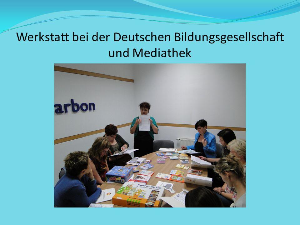 Werkstatt bei der Deutschen Bildungsgesellschaft und Mediathek