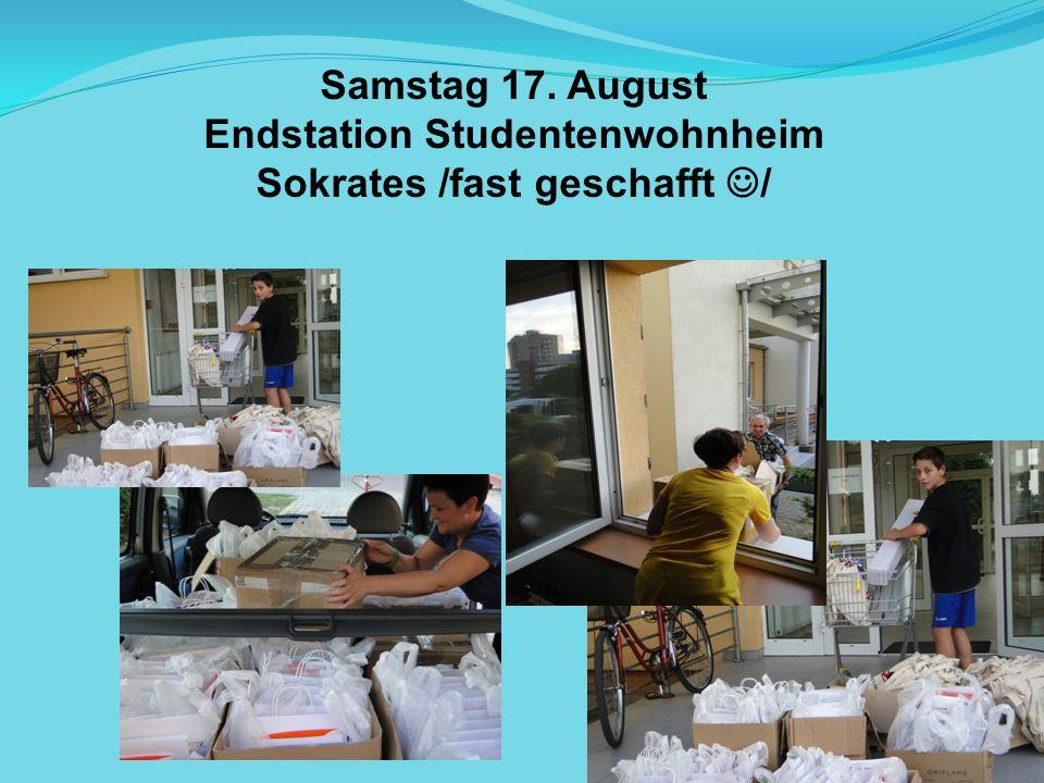 Endstation Studentenwohnheim Sokrates /fast geschafft /