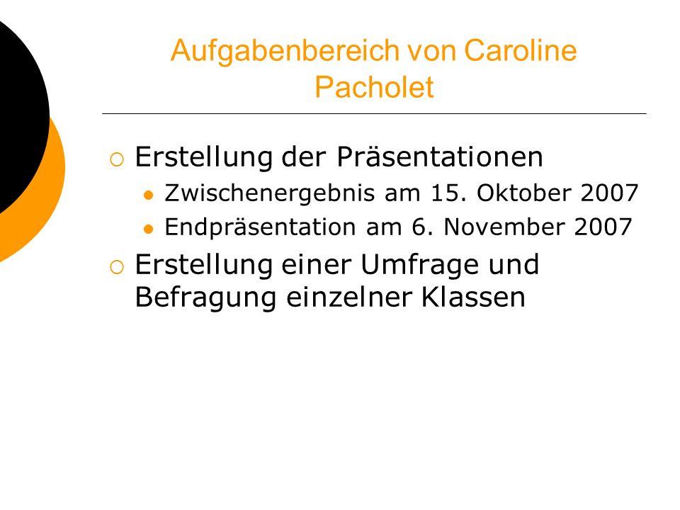 Aufgabenbereich von Caroline Pacholet