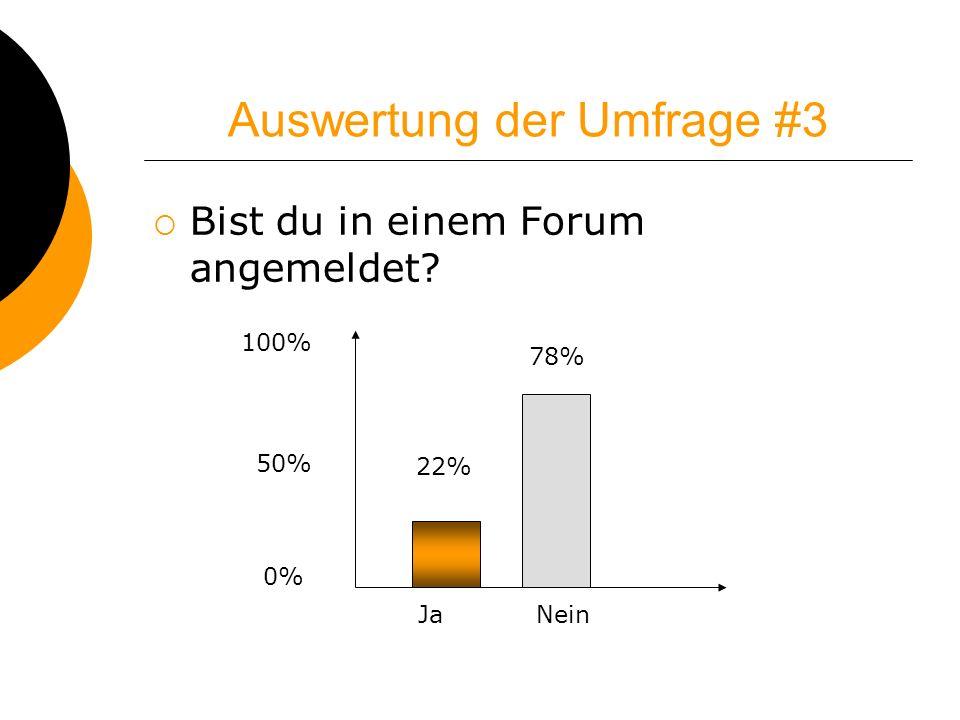 Auswertung der Umfrage #3