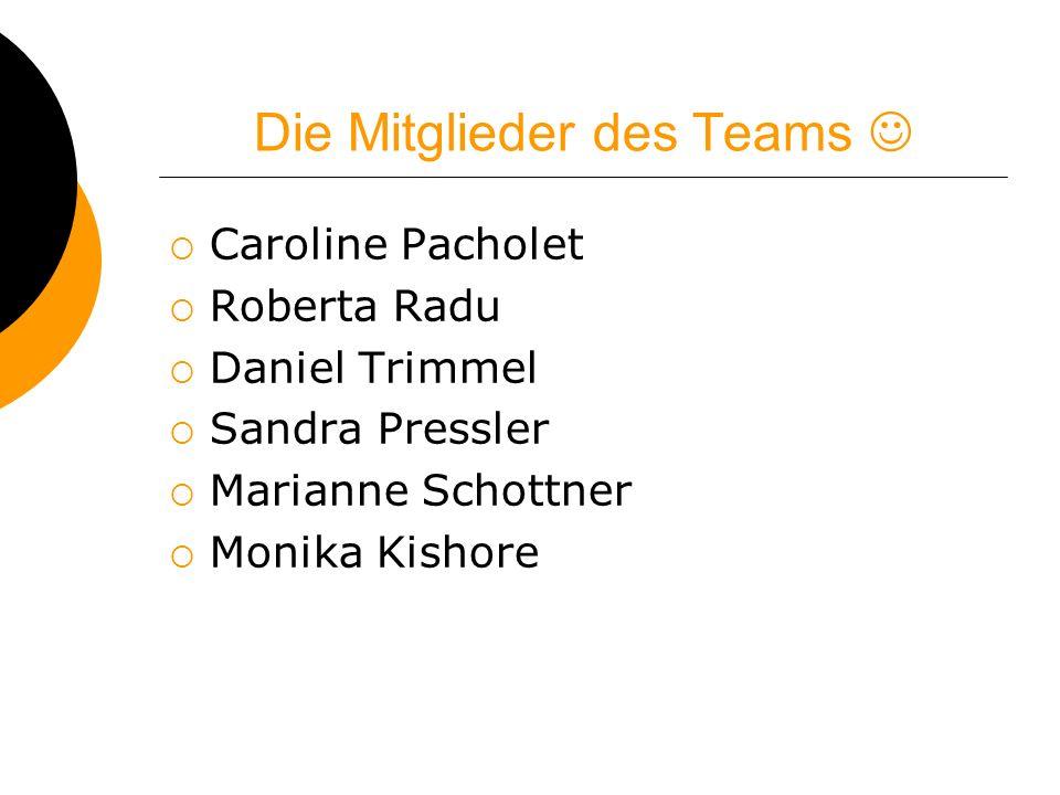 Die Mitglieder des Teams 
