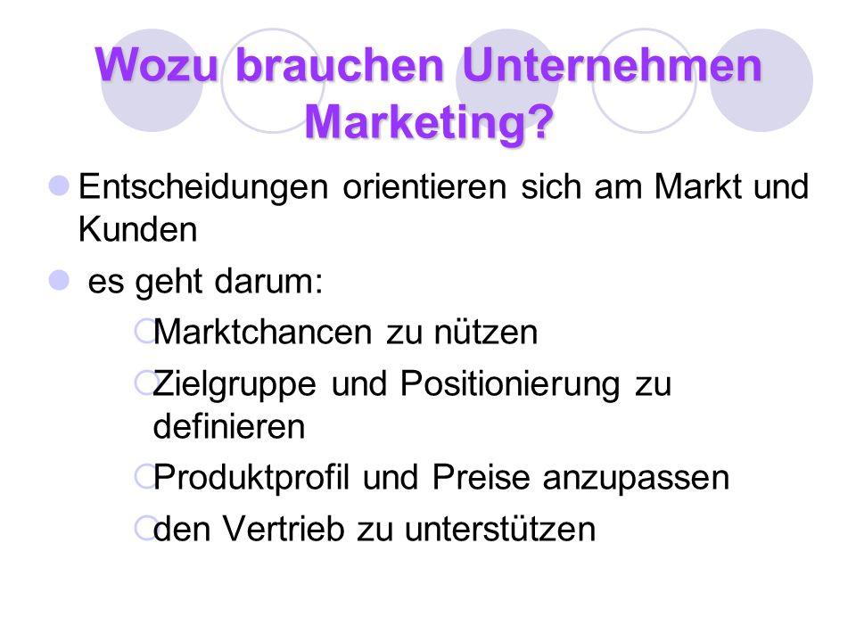 Wozu brauchen Unternehmen Marketing