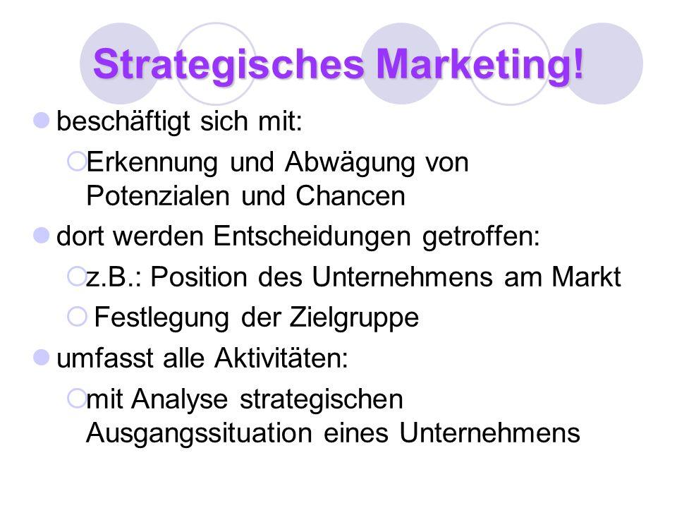Strategisches Marketing!