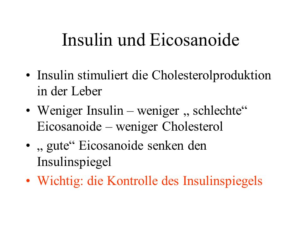 Insulin und Eicosanoide