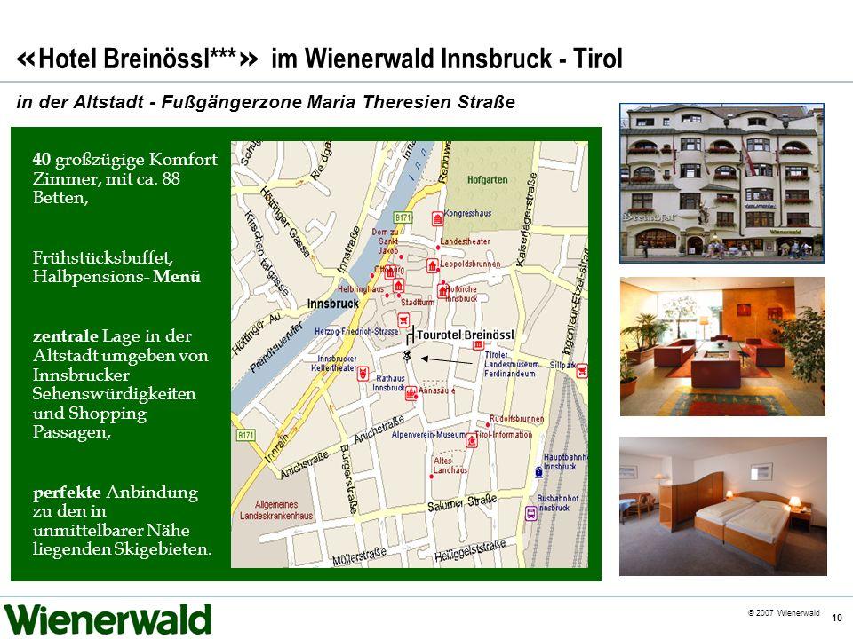 «Hotel Breinössl***» im Wienerwald Innsbruck - Tirol