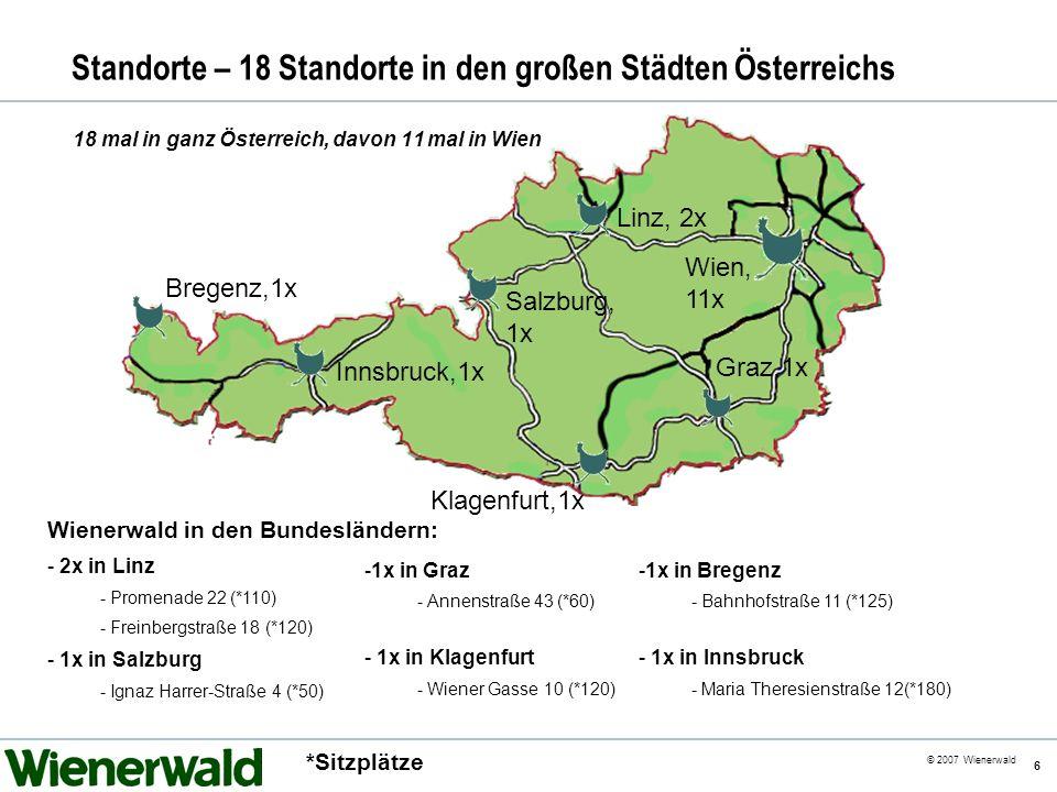 Standorte – 18 Standorte in den großen Städten Österreichs