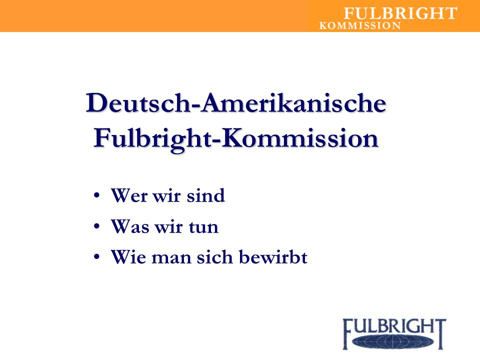 Deutsch-Amerikanische Fulbright-Kommission