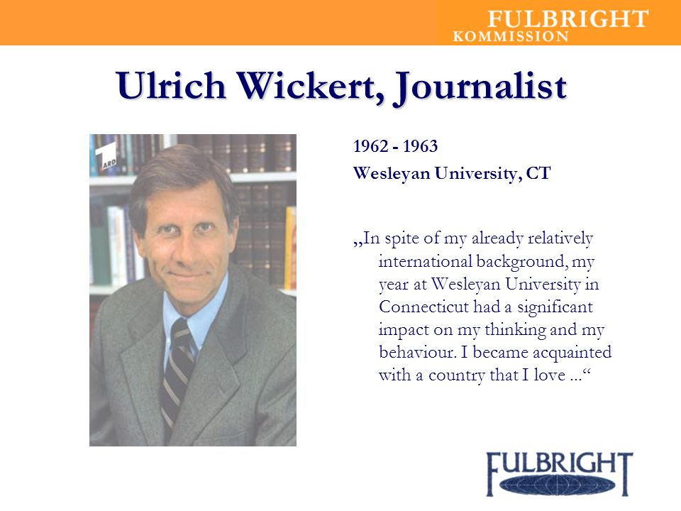 Ulrich Wickert, Journalist