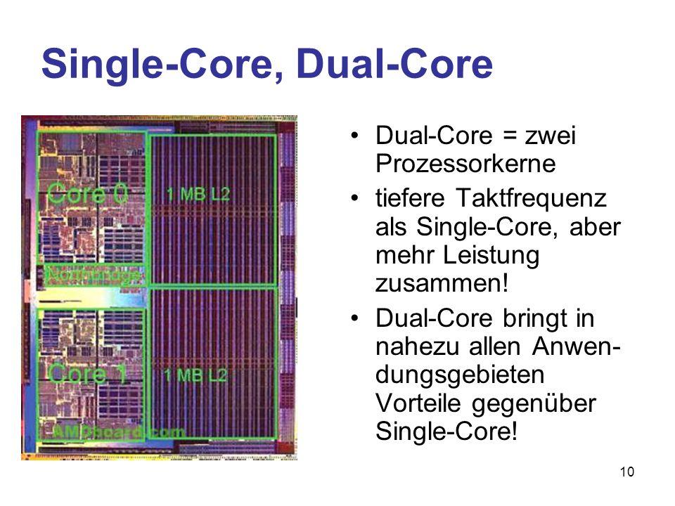 Single-Core, Dual-Core