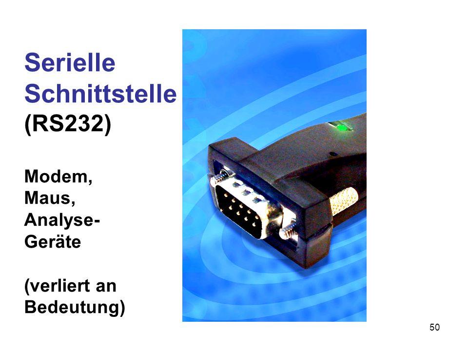 Serielle Schnittstelle (RS232) Modem, Maus, Analyse-