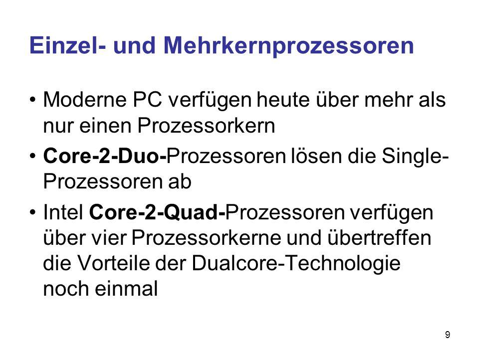 Einzel- und Mehrkernprozessoren