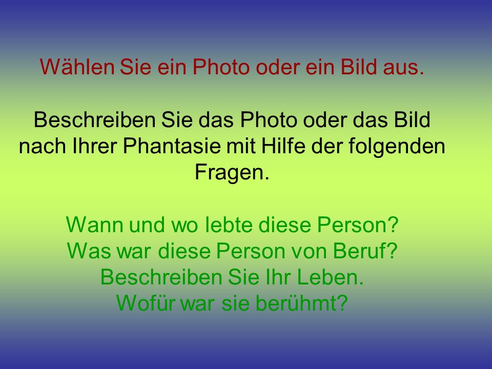Wählen Sie ein Photo oder ein Bild aus