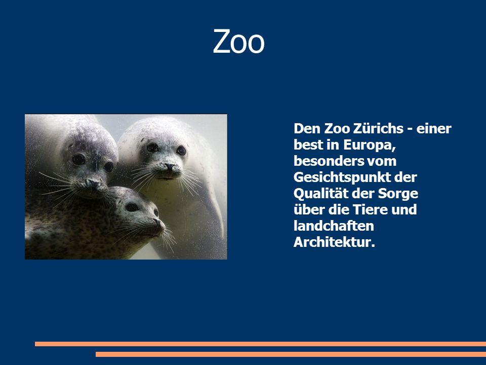 Zoo Den Zoo Zürichs - einer best in Europa, besonders vom Gesichtspunkt der Qualität der Sorge über die Tiere und landchaften Architektur.