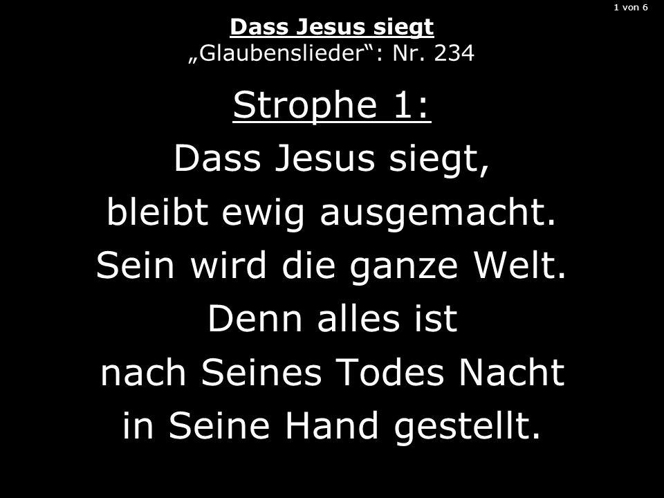 """1 von 6 Dass Jesus siegt """"Glaubenslieder : Nr. 234"""