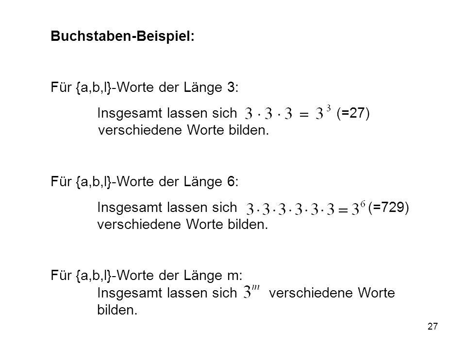 Buchstaben-Beispiel: