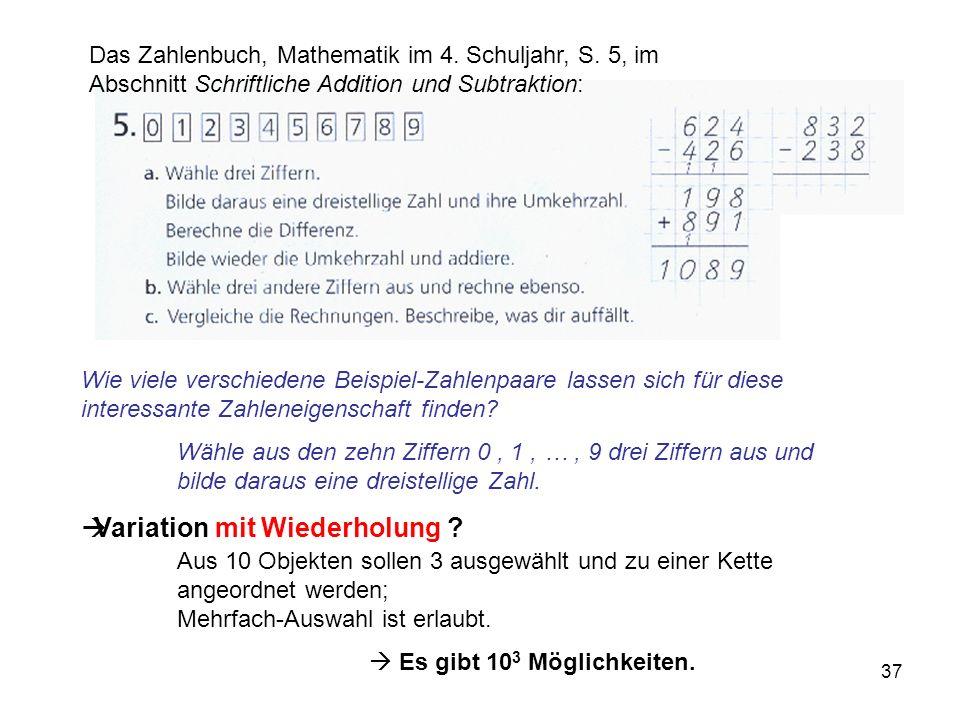 Das Zahlenbuch, Mathematik im 4. Schuljahr, S