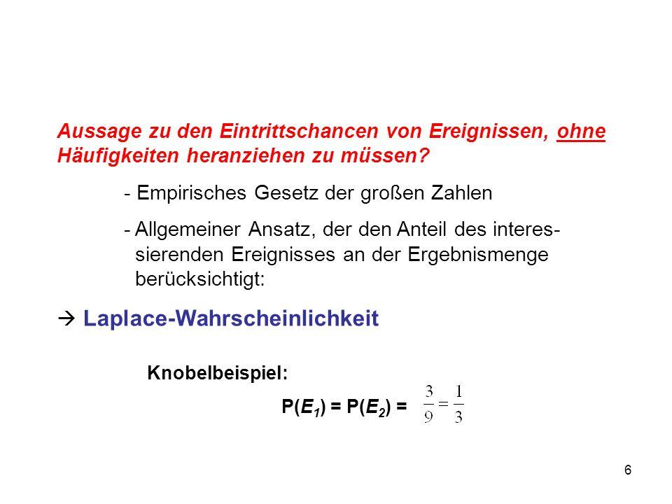 - Empirisches Gesetz der großen Zahlen