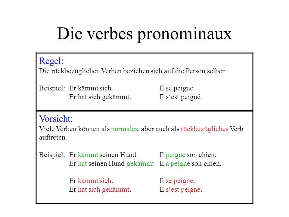 Die verbes pronominaux