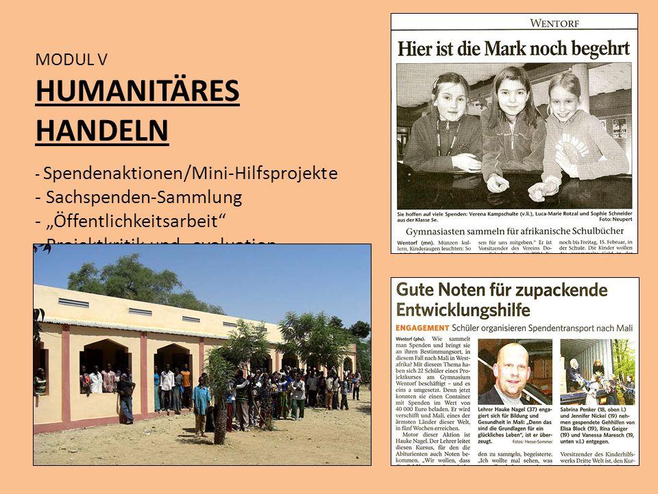 """HUMANITÄRES HANDELN Sachspenden-Sammlung """"Öffentlichkeitsarbeit"""
