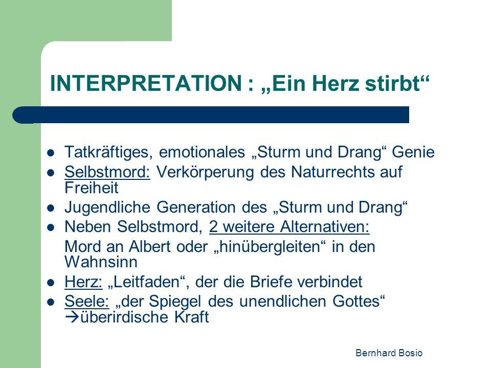"""INTERPRETATION : """"Ein Herz stirbt"""