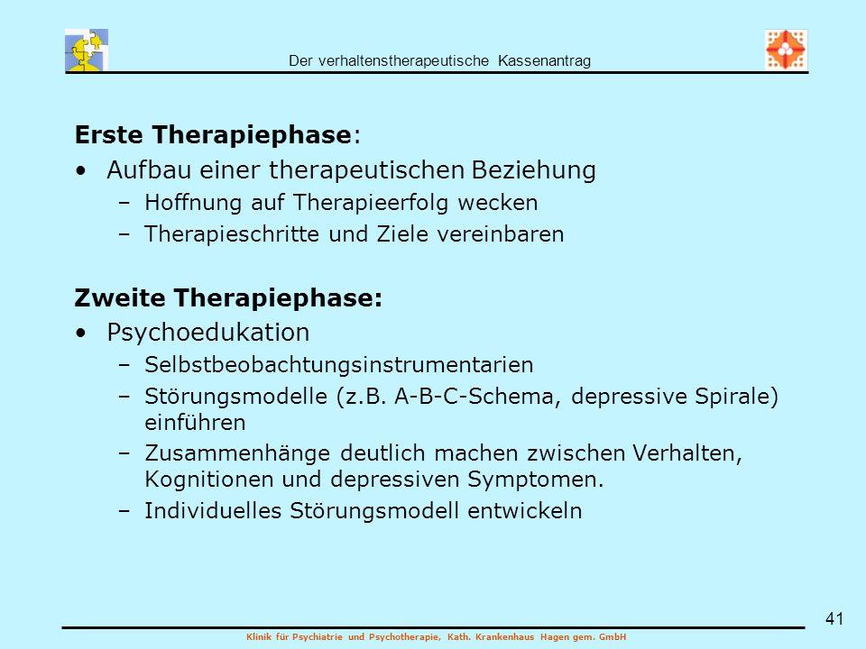 Aufbau einer therapeutischen Beziehung
