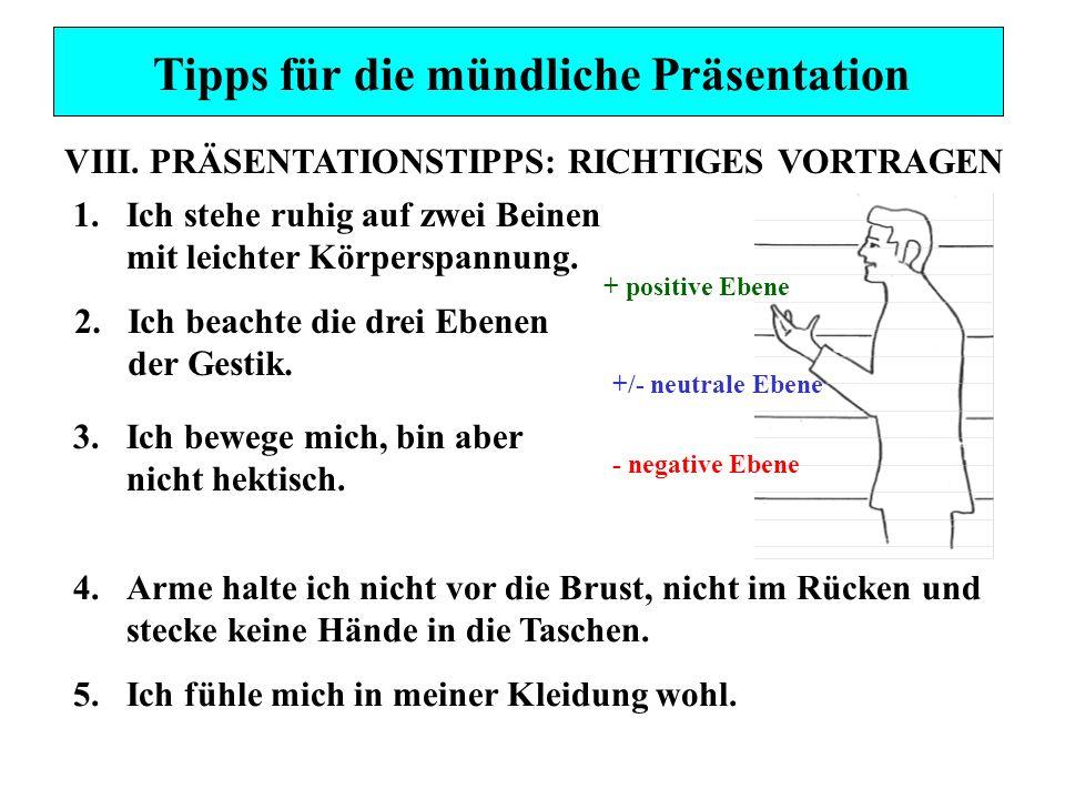 Tipps für die mündliche Präsentation