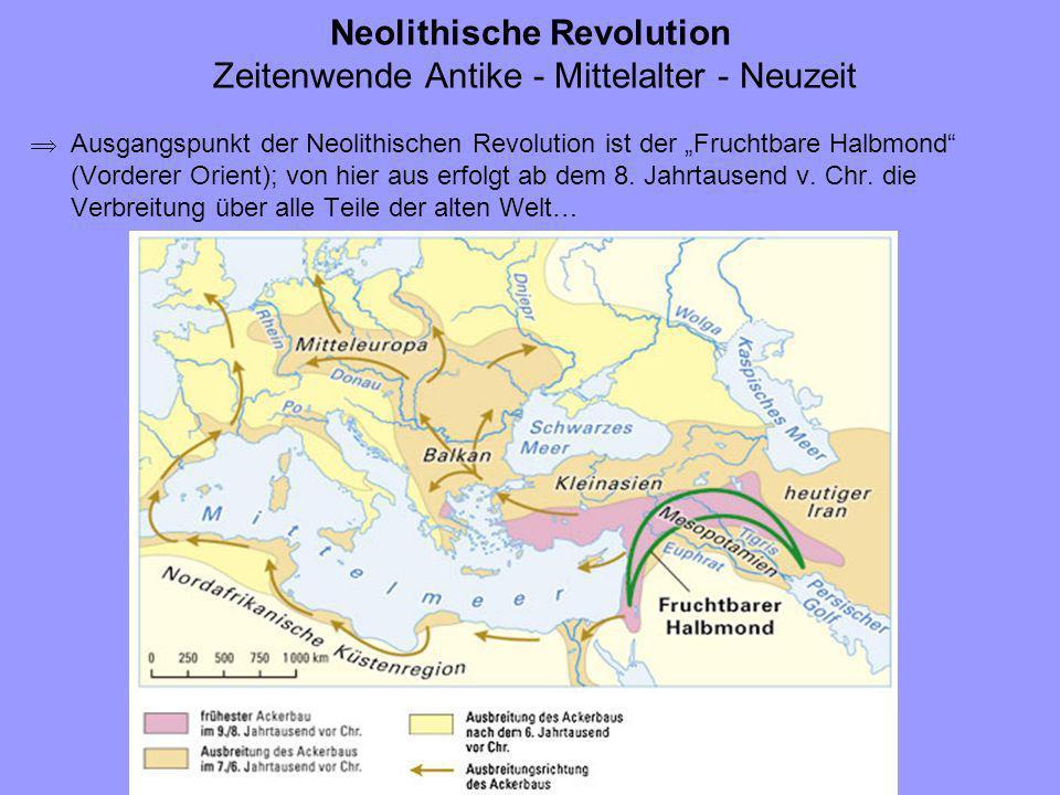 Neolithische Revolution Zeitenwende Antike - Mittelalter - Neuzeit