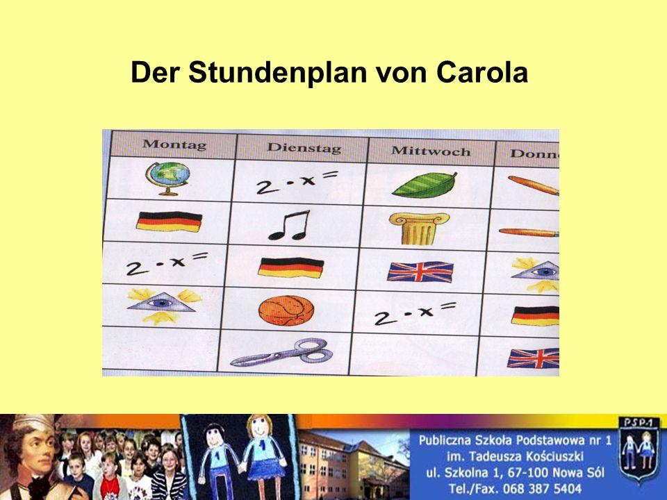 Der Stundenplan von Carola