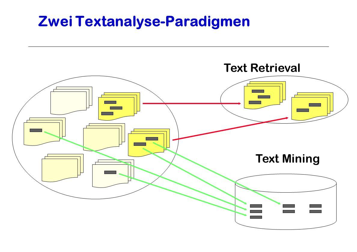 Zwei Textanalyse-Paradigmen