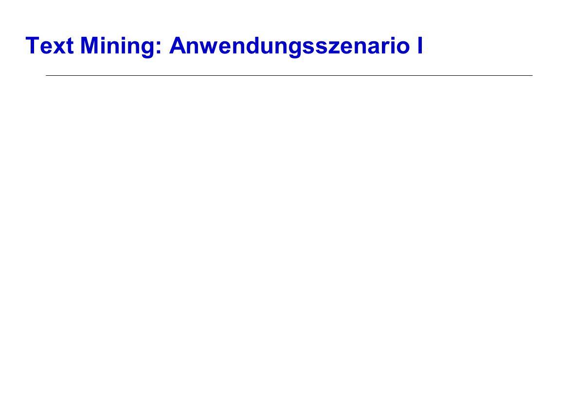 Text Mining: Anwendungsszenario I