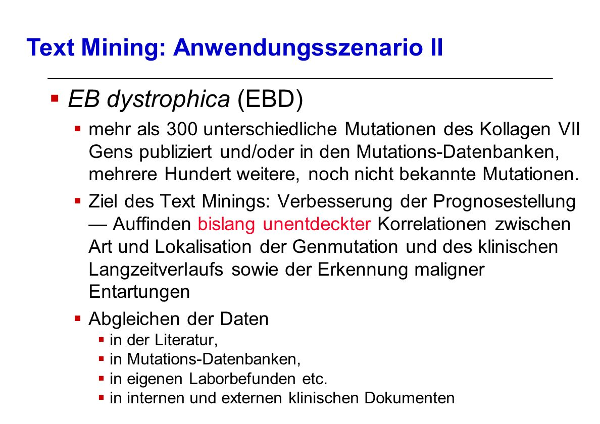 Text Mining: Anwendungsszenario II
