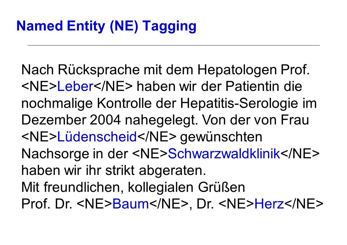 Named Entity (NE) Tagging