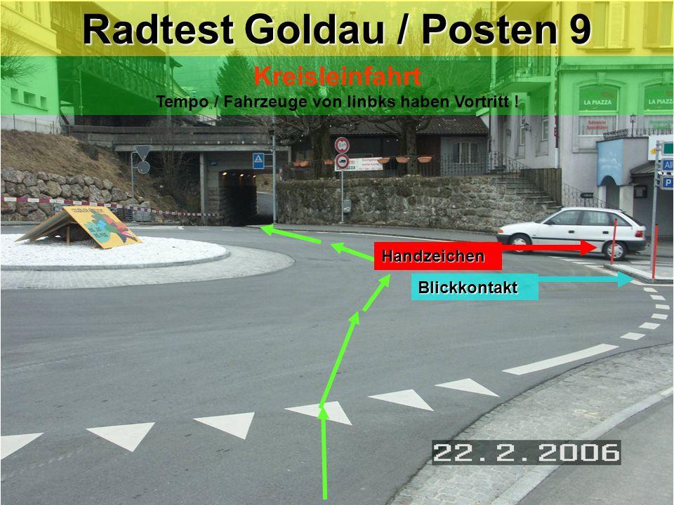 Radtest Goldau / Posten 9