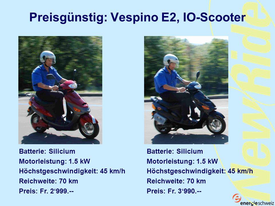 Preisgünstig: Vespino E2, IO-Scooter