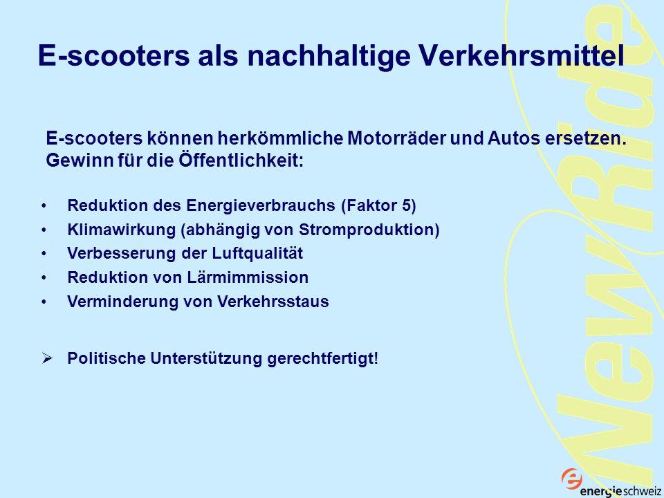 E-scooters als nachhaltige Verkehrsmittel