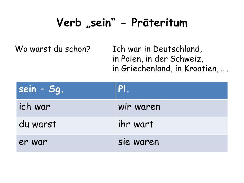 """Verb """"sein - Präteritum"""