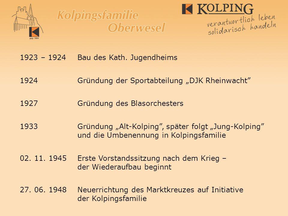 1923 – 1924 Bau des Kath. Jugendheims