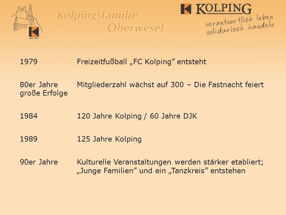 "1979 Freizeitfußball ""FC Kolping entsteht"