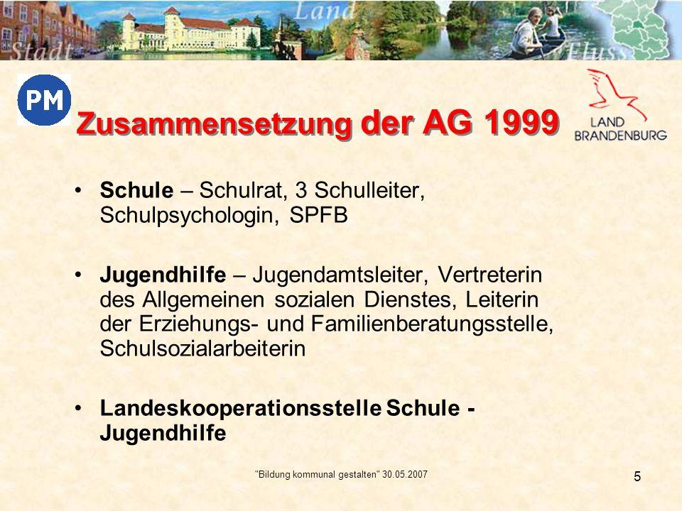 Zusammensetzung der AG 1999