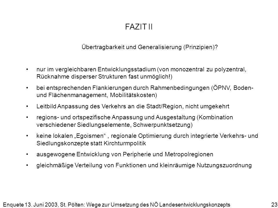 FAZIT II Übertragbarkeit und Generalisierung (Prinzipien)