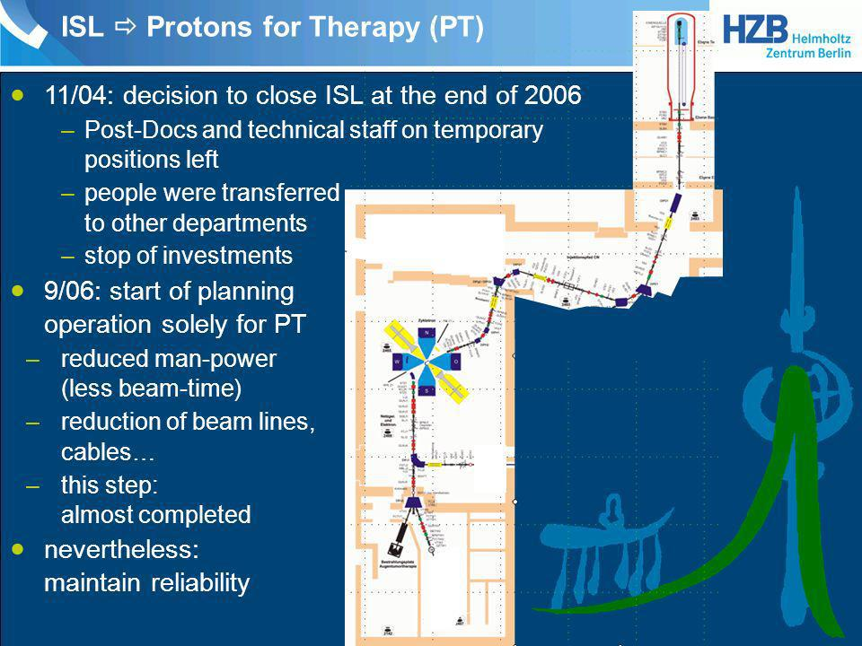 ISL  Protons for Therapy (PT)
