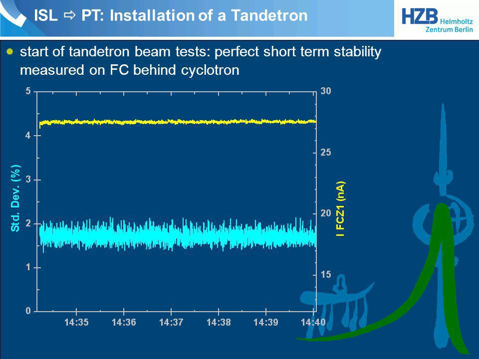 ISL  PT: Installation of a Tandetron