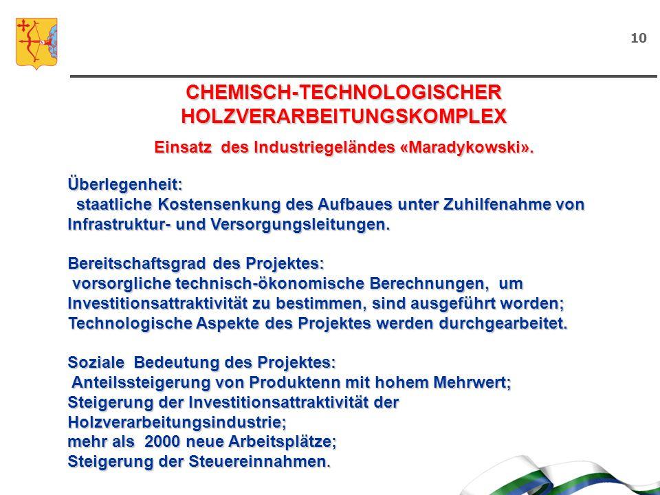 CHEMISCH-TECHNOLOGISCHER HOLZVERARBEITUNGSKOMPLEX
